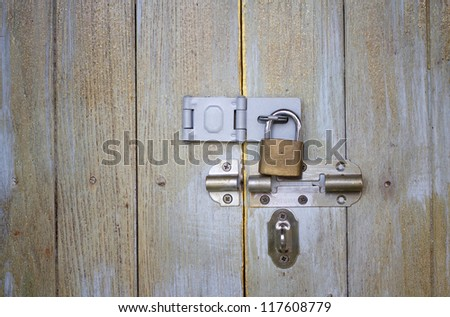wood background and locker - stock photo