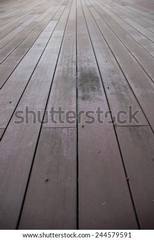 Wood background - perspective wooden floor - stock photo