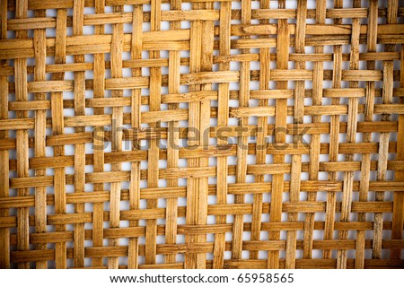 wood bamboo background pattern weave. - stock photo