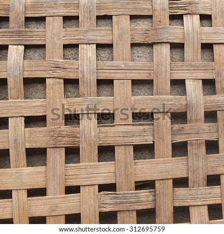 Wood basket texture