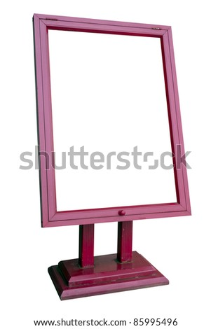 Wood blank posters, white background. - stock photo