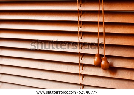 Wood Blinds - stock photo