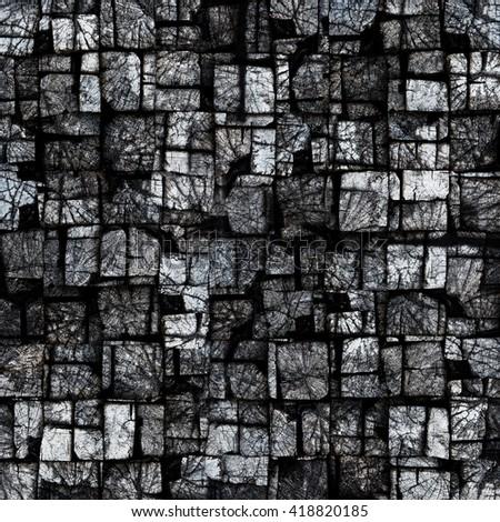 Wood blocks background - stock photo