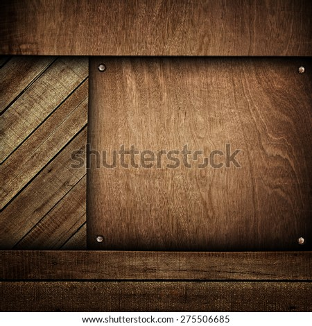 wood board background - stock photo