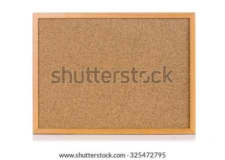 Wood board isolate on white background