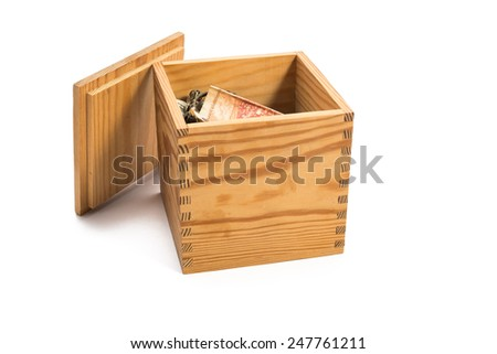 wood box filled with money