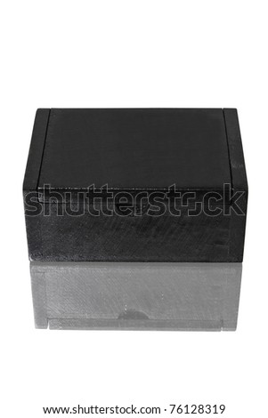wood box on white background