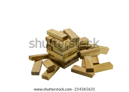 Wood Bricks Child Game Isolated On Stock Photo Royalty Free Cool Wooden Bricks Game