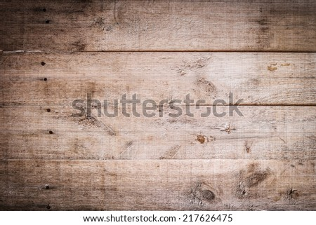 wood brown aged plank texture, vintage background - stock photo