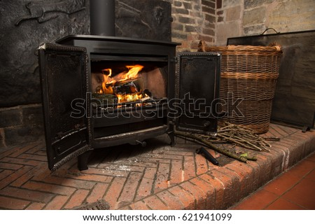 Wood burning fire stove