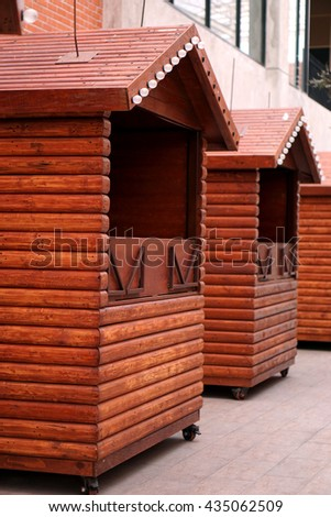 wood cabin use as shop for selling in market