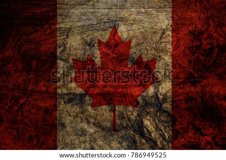 Wood Canada  Flag texture background