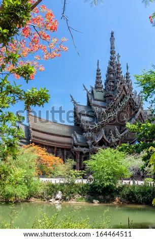 Wood carving Chonburi thailand - stock photo