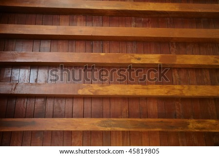 wood  ceiling - stock photo