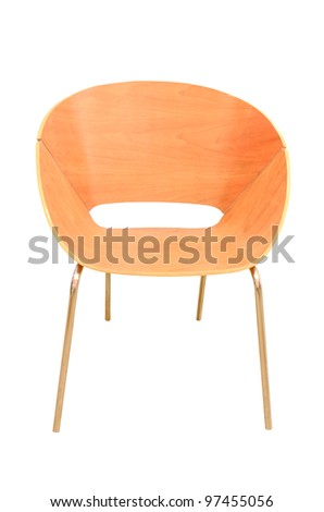 wood chair isolated
