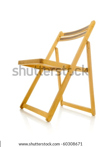 Wood chair isolated over white