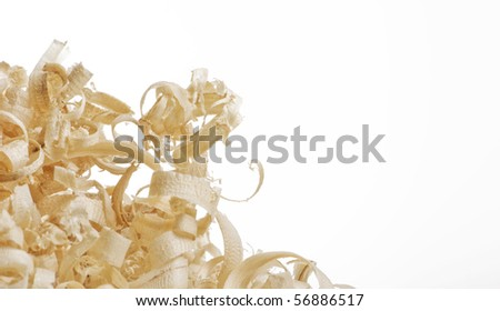 Wood chips and sawdust texture - stock photo