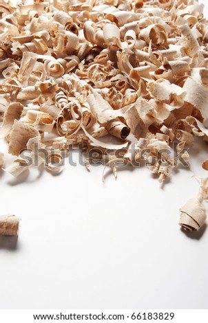 Wood chips and sawdust texture with copy space