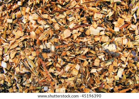 Wood chips for a biomass combustion - stock photo