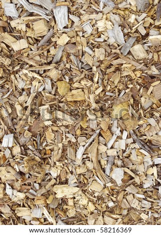 wood chips texture closeup pattern