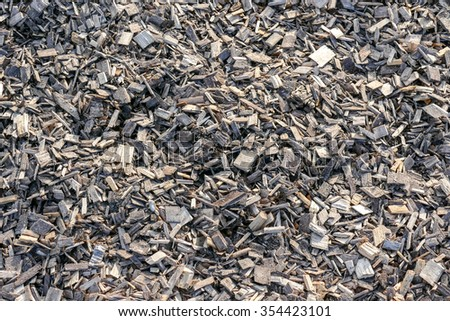 Wood chips used to fill the damp maritime fairways. Background or texture