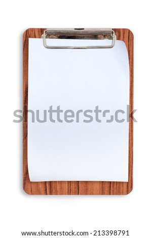 Wood clipboard for text and background - stock photo