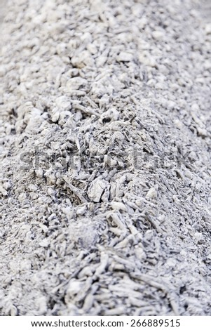 Wood coals for a grill, hot burnt wood detail, ash - stock photo
