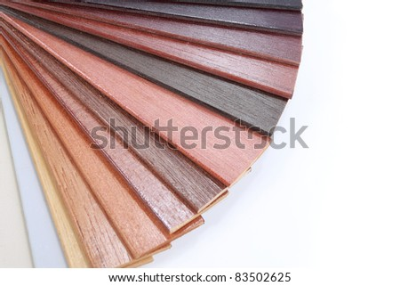 wood color guide isolated over white background - stock photo