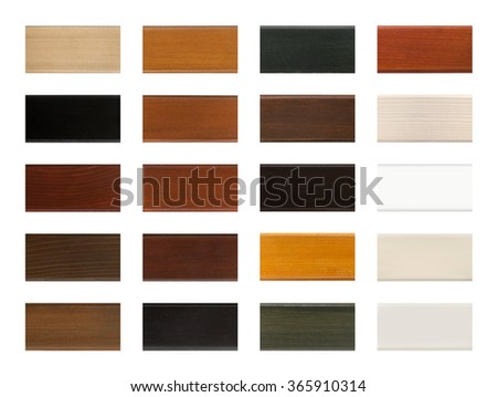 Wood Color Sample Swatch Chart Isolated Stock Photo Edit Now