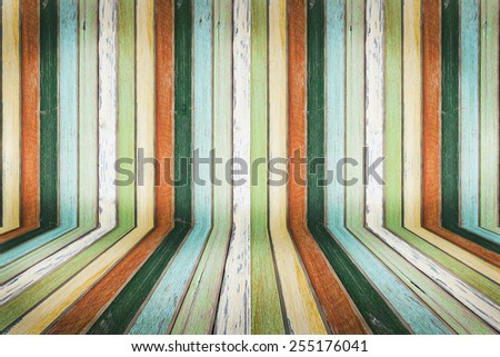 Wood color wall and floor textured for background