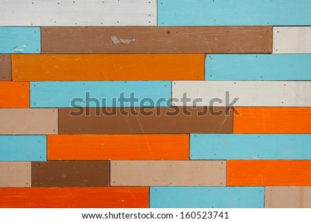 Wood Color wall background  - stock photo