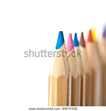 Wood Coloured crayons
