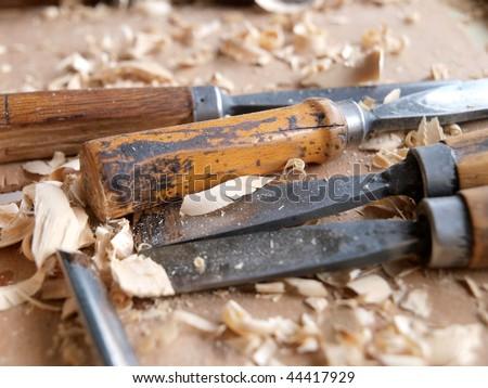 Wood craftsmanship - stock photo