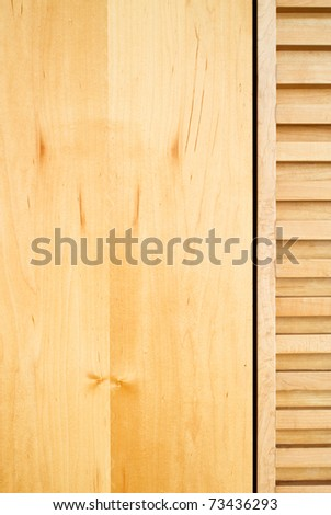 Wood decoration in modern office - stock photo