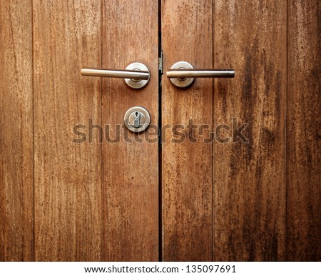 wood door - stock photo