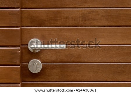 Wood door modern style, Metal door handles