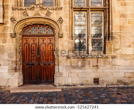 Ancient door stock images royalty free images vectors shutterstock for Exterior glass doors for churches