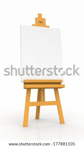 wood easel with canvas 2