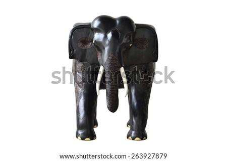 Wood elephant - stock photo