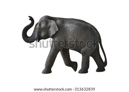 Wood elephant in action