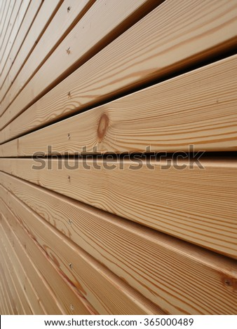 wood facade - stock photo