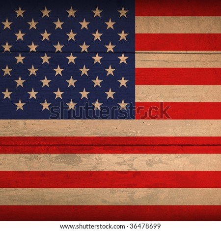 wood flag of america