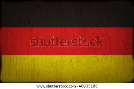 wood flag of germany