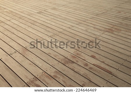 Wood floor background - stock photo