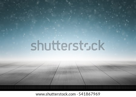 Wood floor in foggy background 3d rendering.