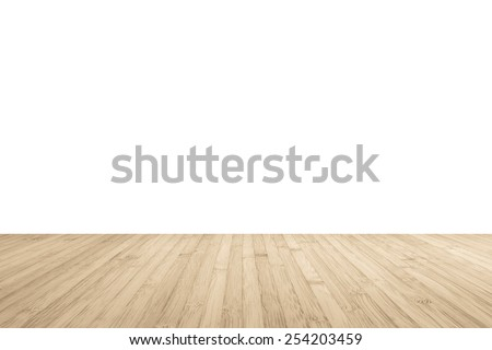 Wood floor texture in light color tone  isolated on white background - stock photo