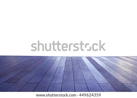 Wood floor texture in light color tone isolated on white background. nature good Perspective warm wooden floor texture. Empty room with wall and wooden floor. Art Wood Design Element Painted 19 - stock photo