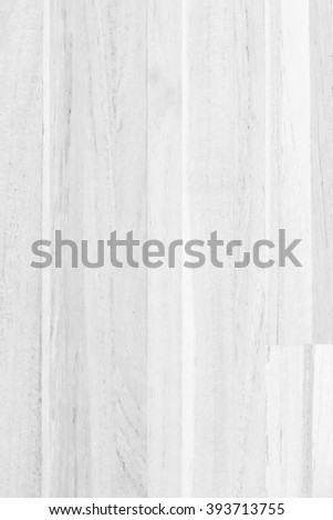 Wood floor texture with edge in light white grey gray color tone isolated on white background: Natural wooden deck terrace balcony plank board backdrop for interior/ architectural design decoration - stock photo