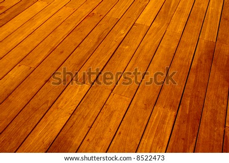 Wood floor tiles - stock photo