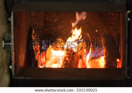 wood for solid fuel boilers - stock photo